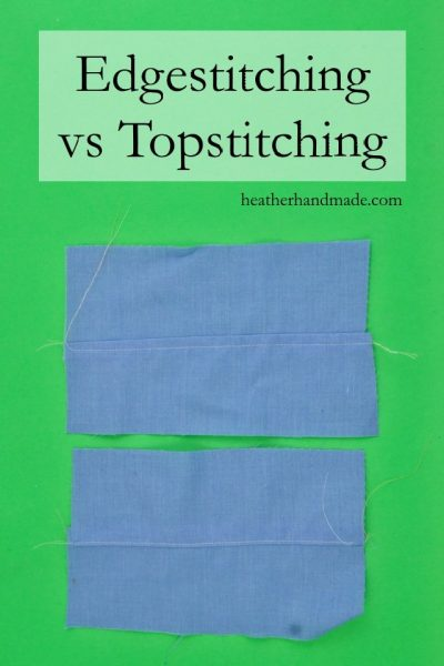Edgestitching vs Topstitching // heatherhandmade.com