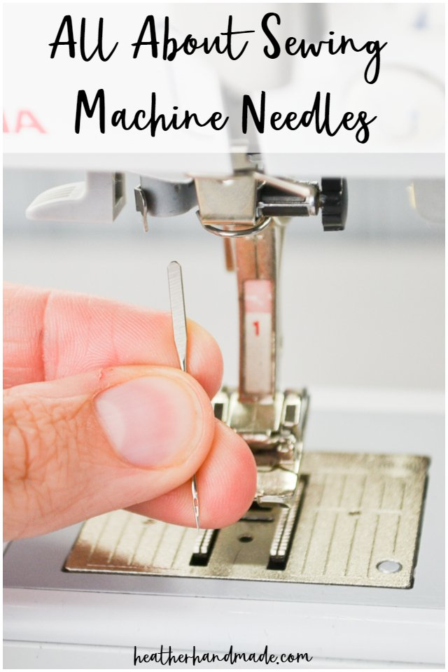 using a sewing machine needle