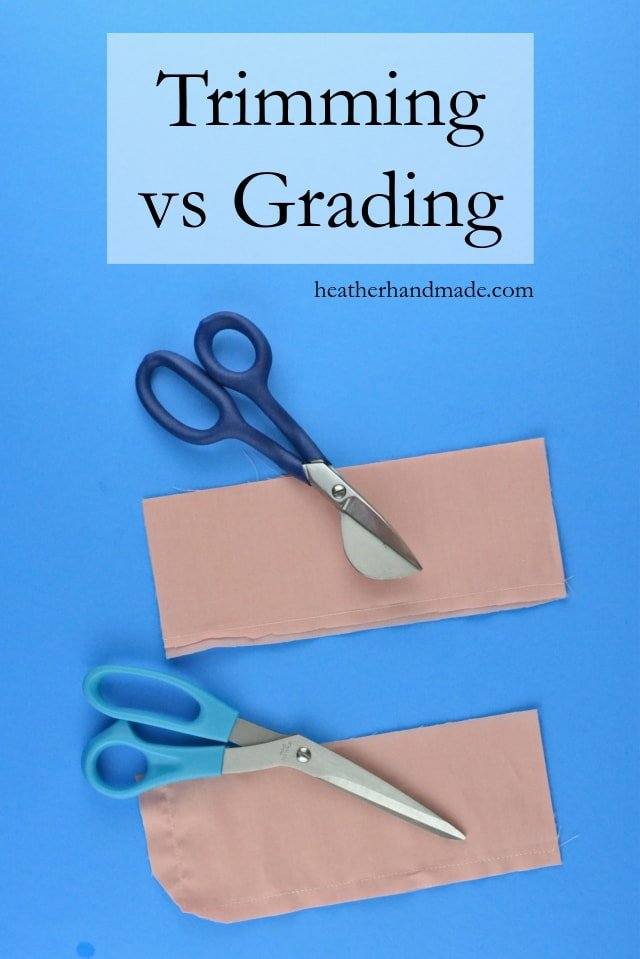 How to Grade Seams: Trimming vs Grading // heatherhandmade.com