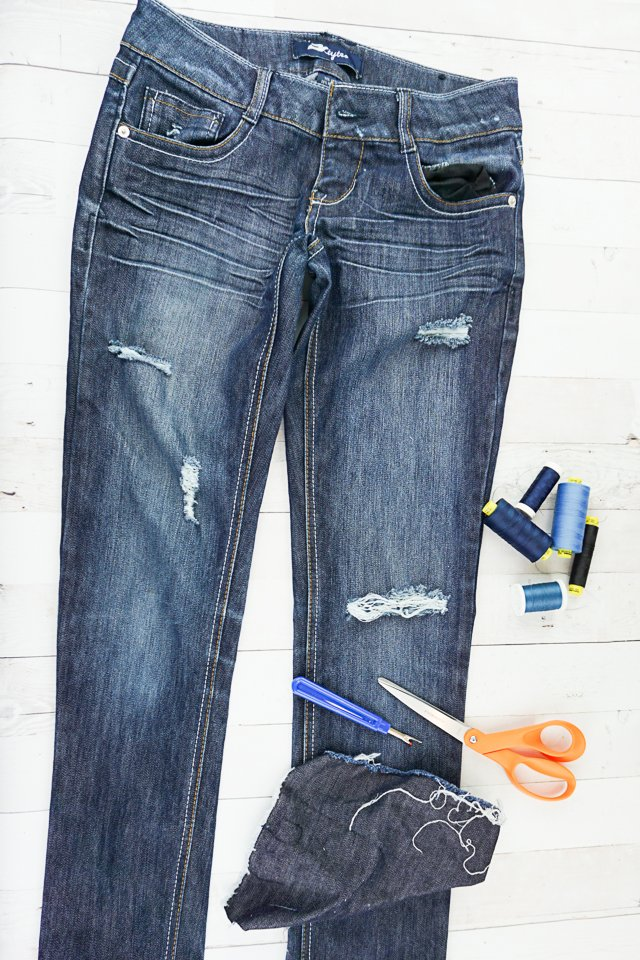mend hole jeans supplies