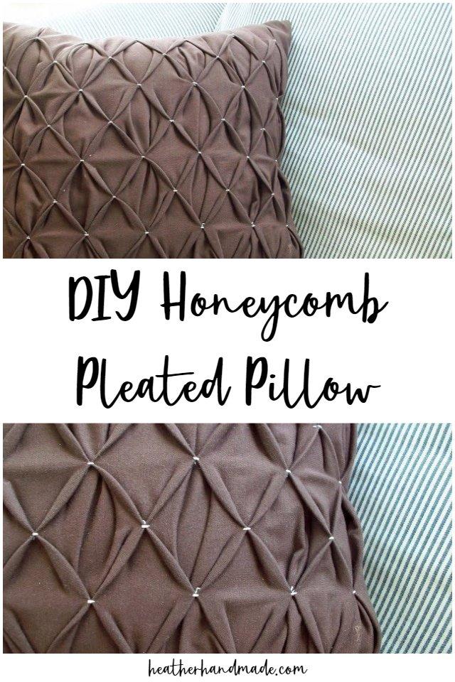diy honeycomb pleated pillow