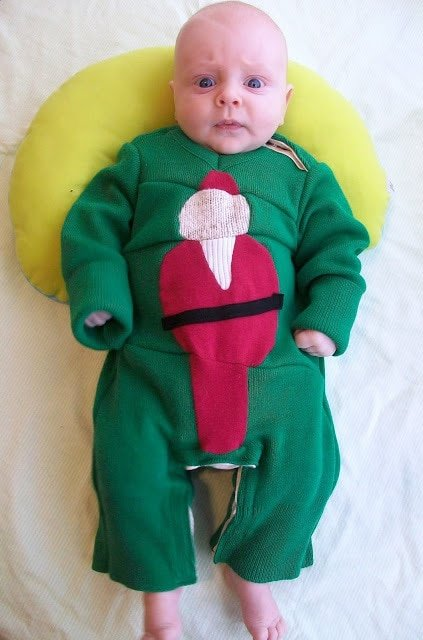 """Baby """"Ugly"""" Christmas Sweater One-Piece Tutorial"""