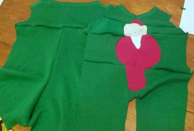 "Baby ""Ugly"" Christmas Sweater One-Piece Tutorial"