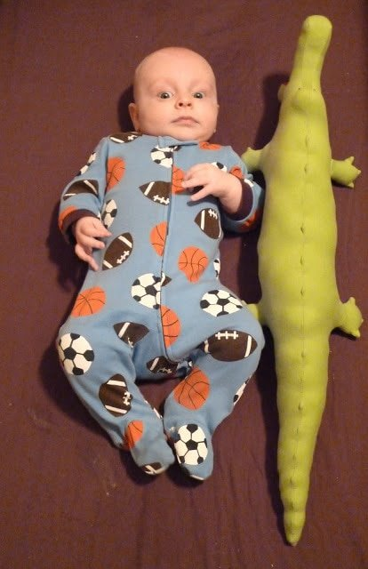 Free Stuffed Alligator Sewing Pattern original