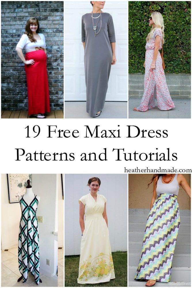 60 Free Maxi Dress Patterns Heather Handmade Inspiration Free Dress Patterns