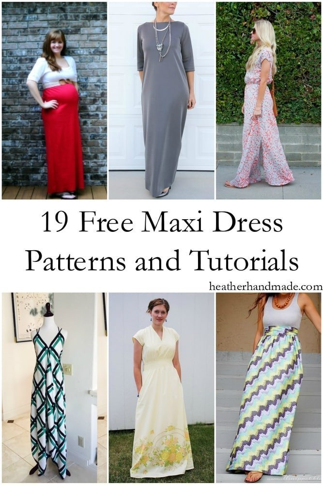 18 Free Maxi Dress Patterns Heather Handmade