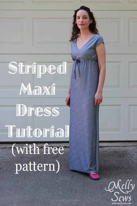 Striped Maxi Sundress Tutorial