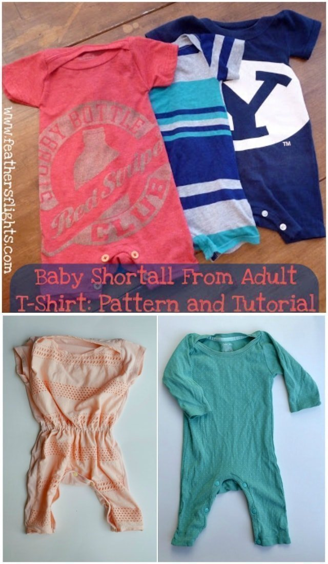 Make A Baby Romper Pattern From A T Shirt Heather Handmade