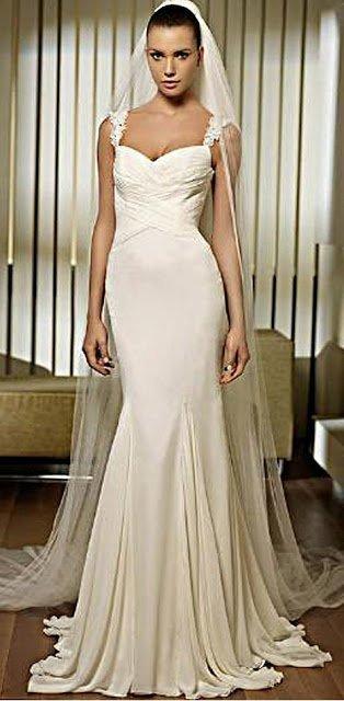 Wedding Dress Alteration Before: Adding a Godet