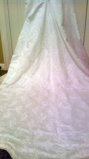 Wedding Dress Alteration: Attached Lace Jacket Reveal