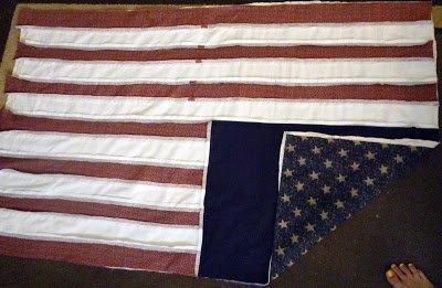 FREE PATTERN: USA Flag Rag Quilt