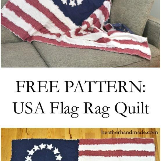 Rag Flag Quilt: Free Quilt Pattern // heatherhandmade.com