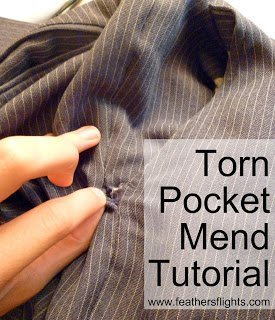 How to Fix a Torn Pocket on Suit Pants