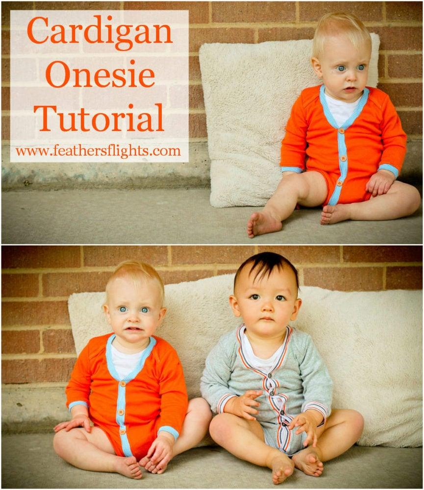 Baby Cardigan Onesie Tutorial