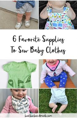 supplies to sew baby clothes
