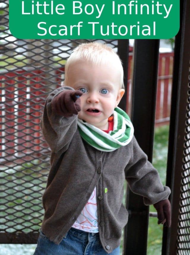 Little Boy Infinity Scarf Tutorial
