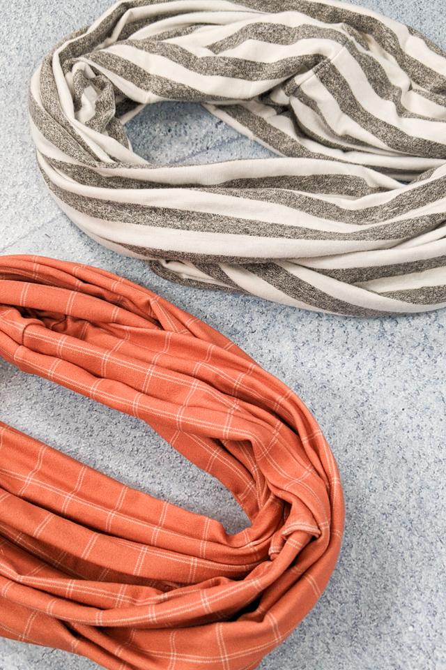 DIY kid infinity scarf