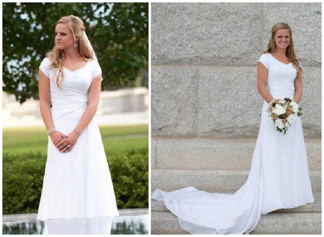 Wedding Dress Alteration After: Adding a Godet