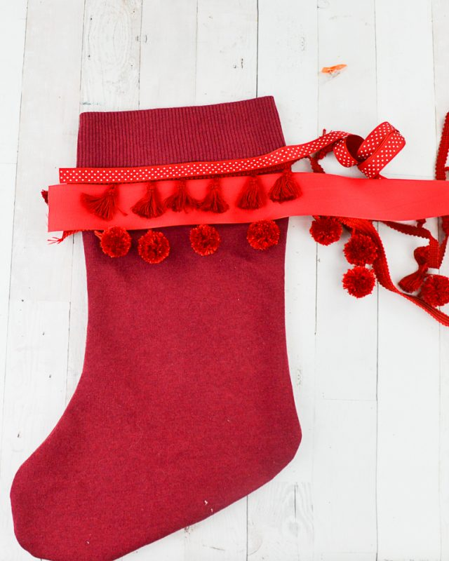 sweater stockings with trim