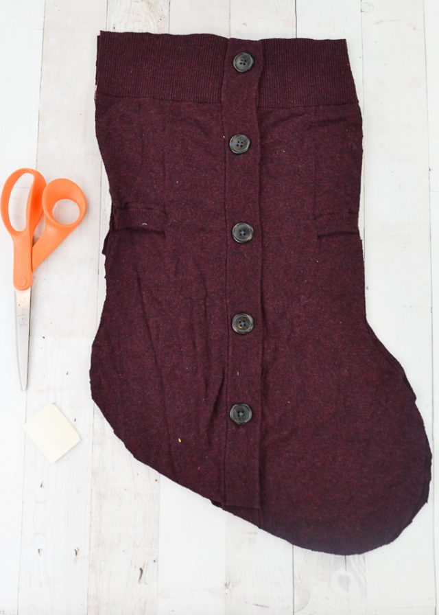 baste cardigan openings together