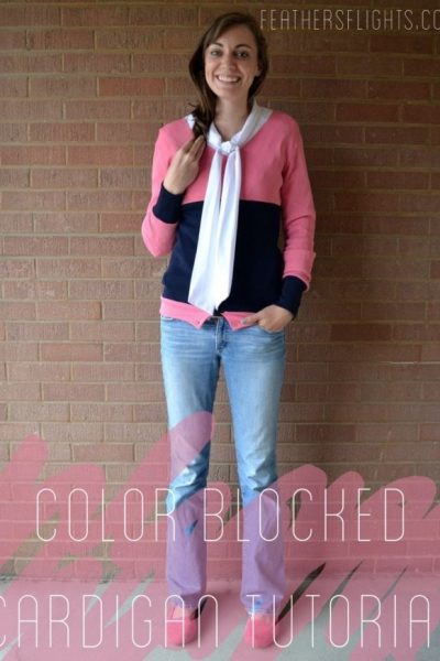 Colorblocked Cardigan Sewing Tutorial
