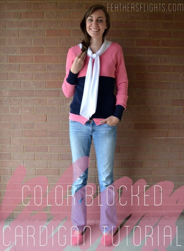 Colorblocked Cardigan Sewing Tutorial