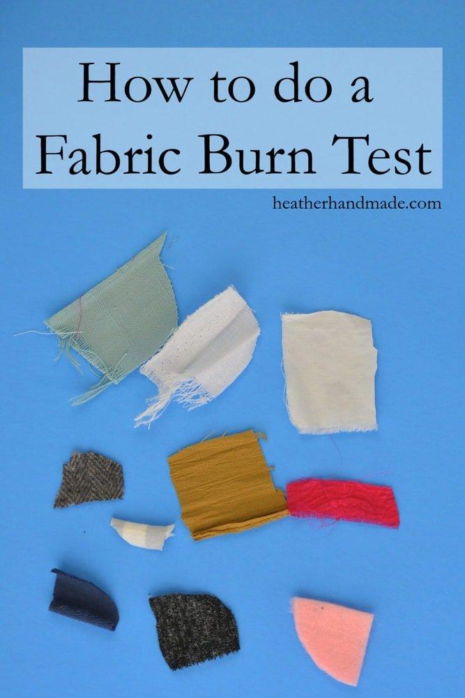 How to Do a Fabric Burn Test // heatherhandmade.com
