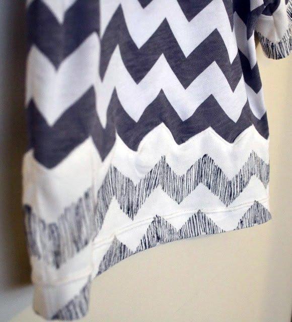Chevron Seam Tutorial: Sew Knits With A Straight Stitch