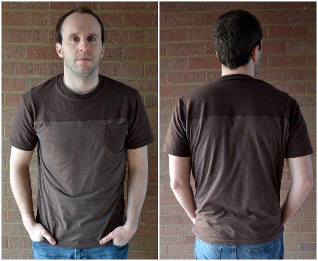 Color Blocked Man's T-Shirt