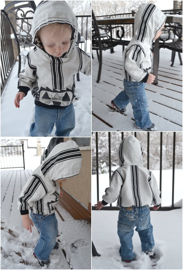 Ebony and Ivory Hoodie and Scarf Hood Tutorial