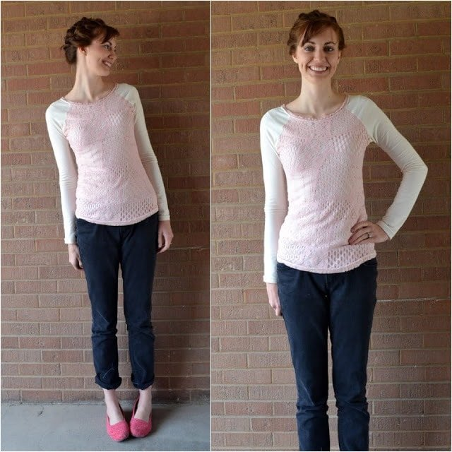 Lace Overlay Tee: An Anthropologie Knock-Off