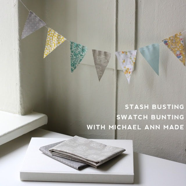 Scrap Fabric Project: Swatch Bunting Tutorial