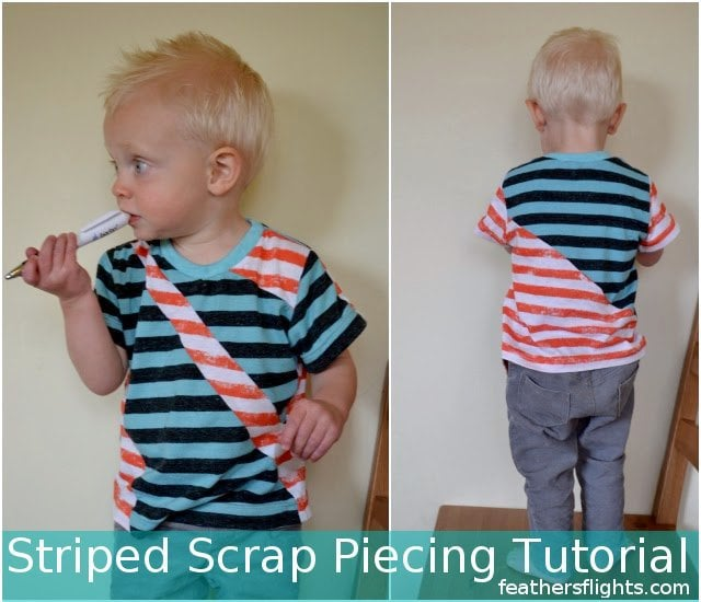 Scrap Fabric Project: Using Striped Knit Scraps
