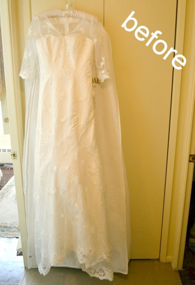 Wedding Dress Alteration: Building Up The Top