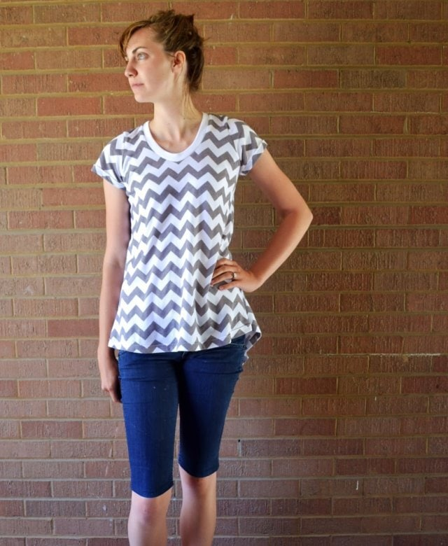 Perfect Summer Tee Week: Chevron Flyaway Tee
