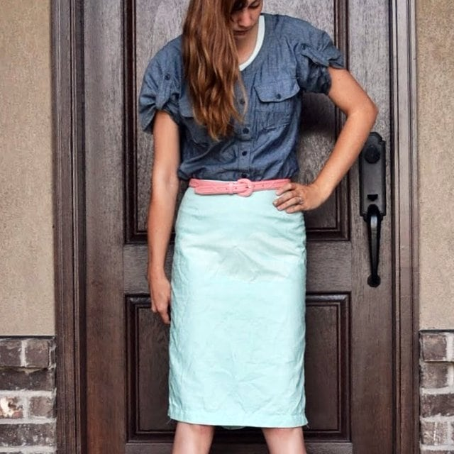 Me Made: Mint Pencil Skirt