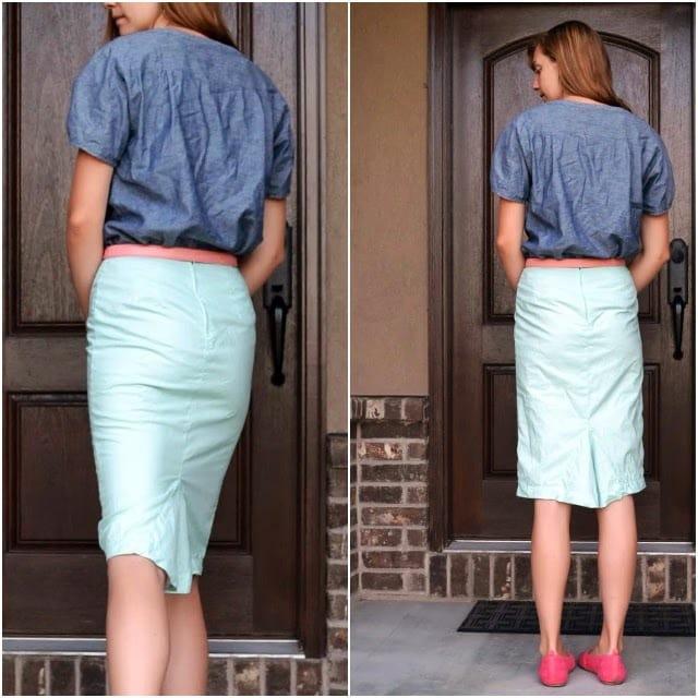 Flared Kick-Back Skirt Pattern Tutorial