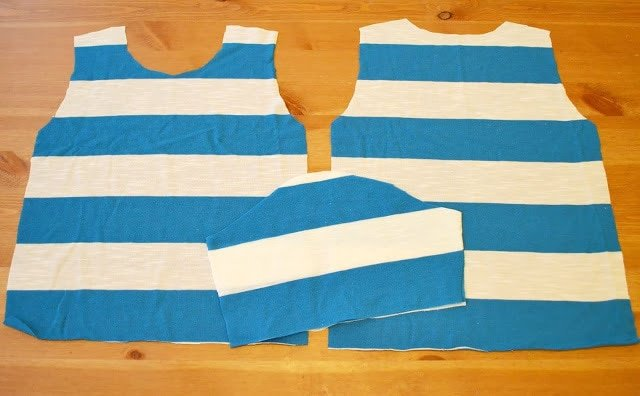 Shoulder Patch Tee Tutorial for Girl Charlee
