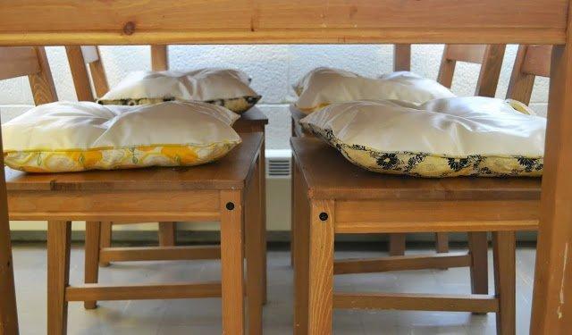 Pretty and Liquid Repellant Chair Cushions