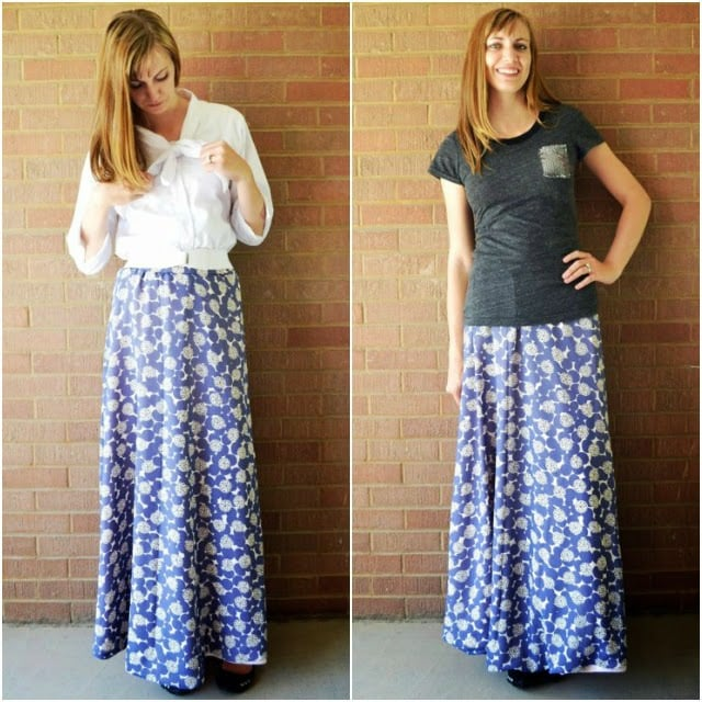 Me Made: Chiffon Maxi Skirt and Shirt