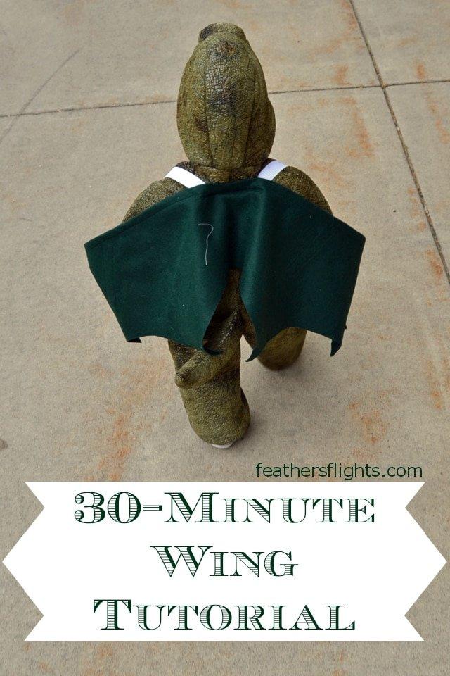 Easy DIY Wings Costume