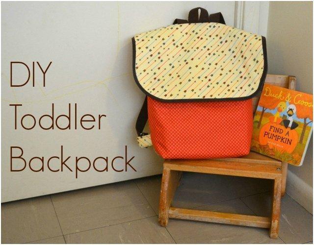 DIY Toddler Backpack