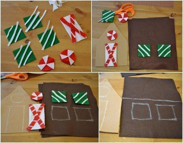 DIY Felt Gingerbread House Toy