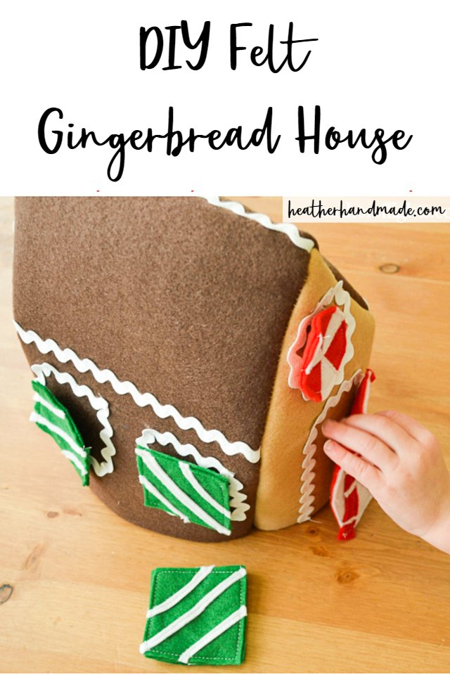 DIY Felt Gingerbread House