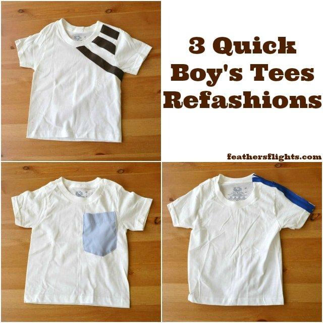 3 Boy T-Shirts Upcycling Ideas
