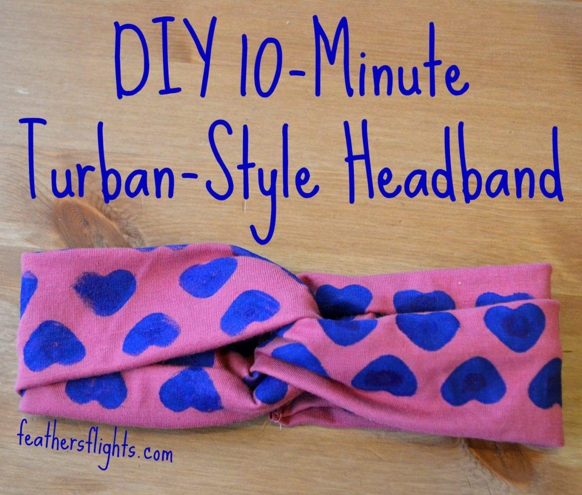 Diy 10 Minute Turban Style Headband Heather Handmade