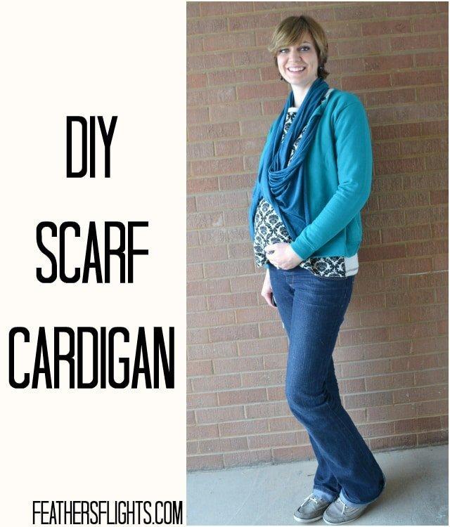 Tutorial: DIY Scarf Cardigan