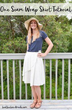 one seam wrap skirt