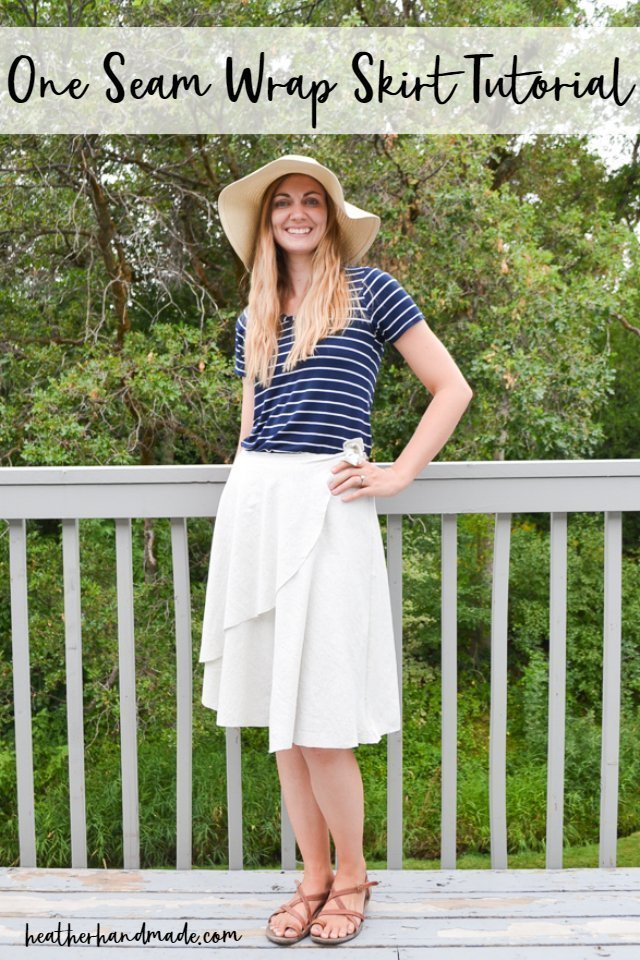 DIY One Seam Wrap Skirt