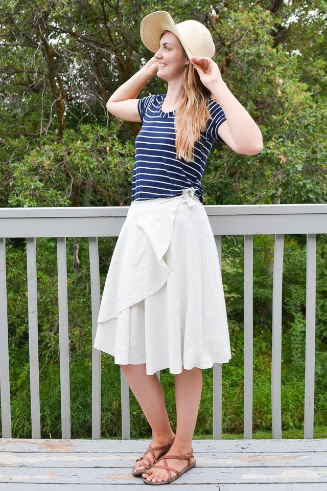easy diy wrap skirt
